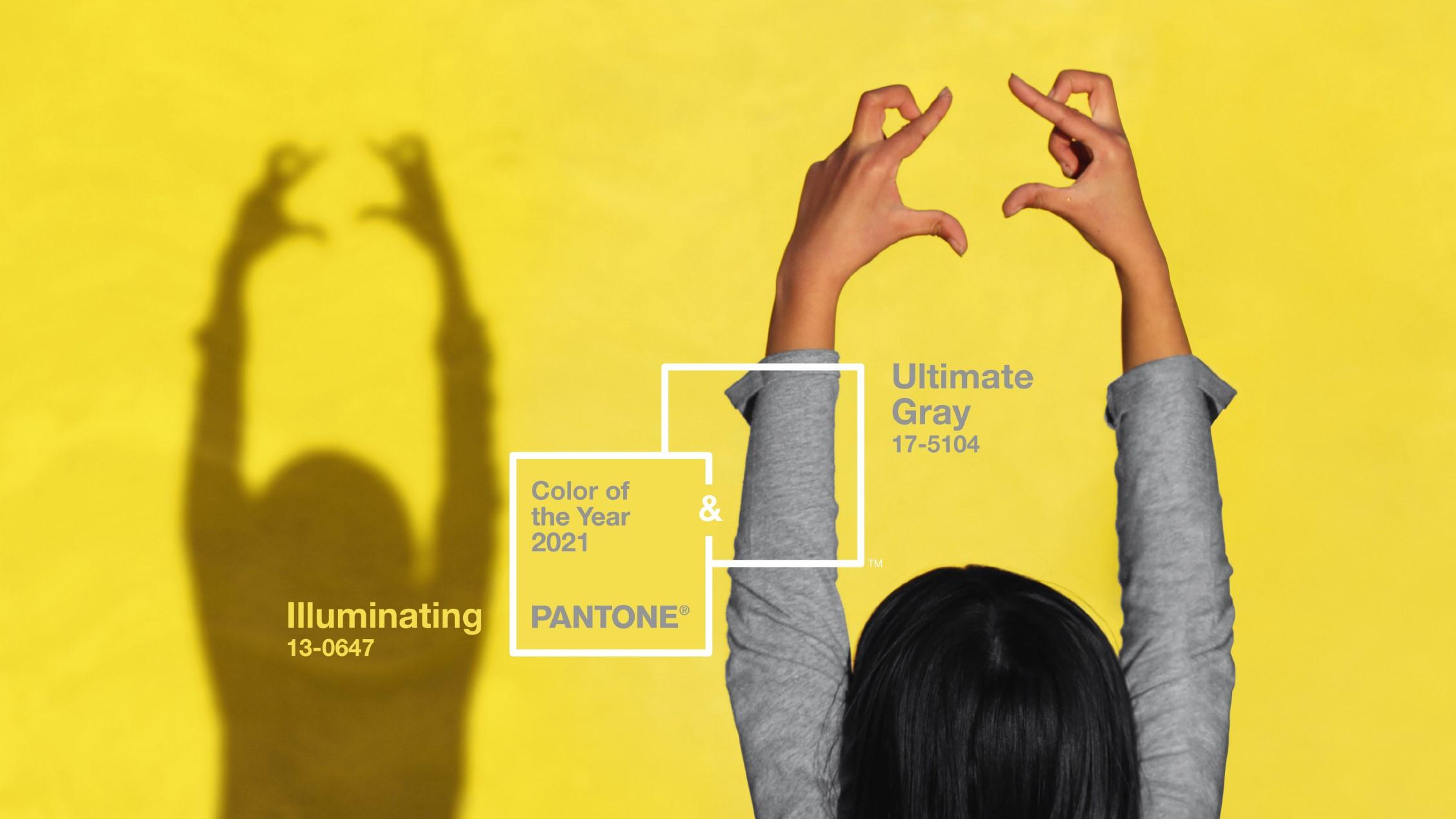 Gli abbinamenti ideali per Giallo Illuminating e Ultimate Gray, i colori Pantone 2021